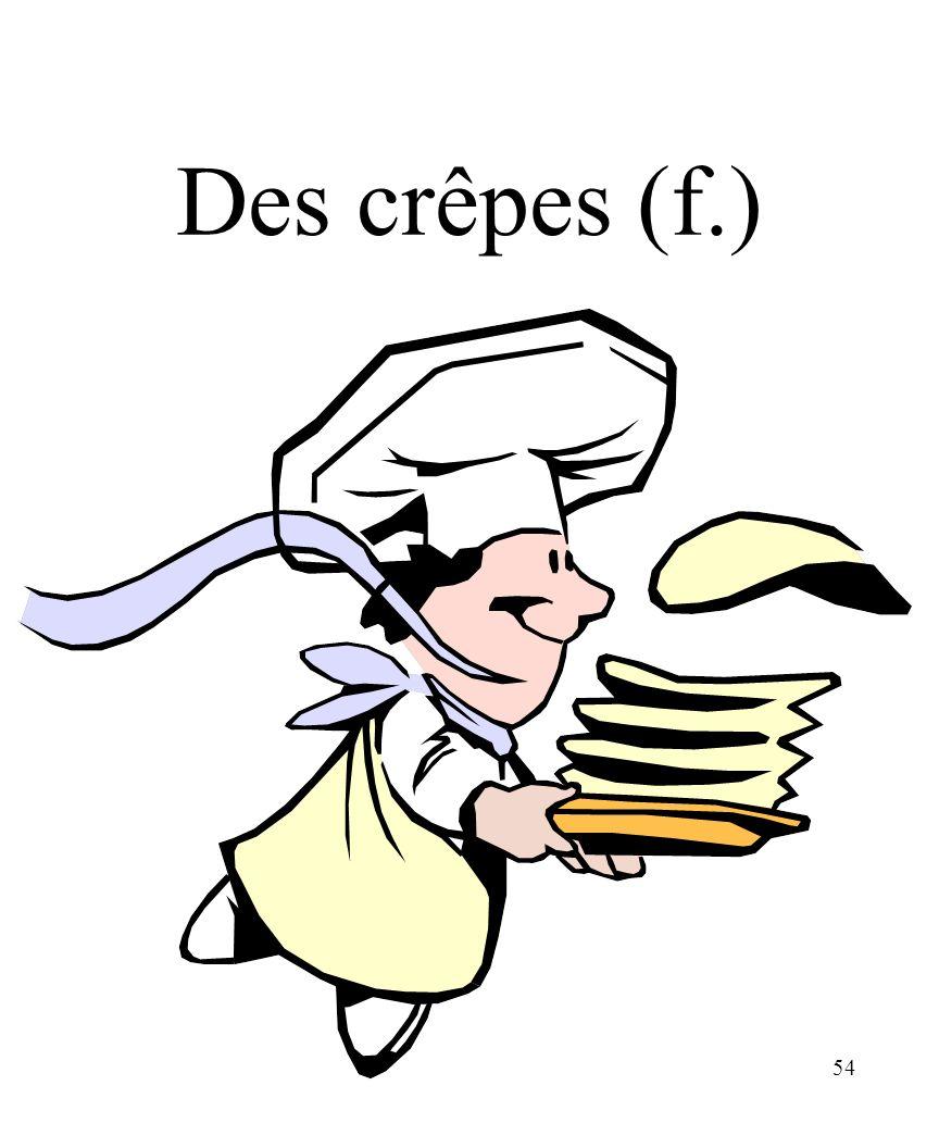 CHAPITRE 8 LES ALIMENTS 3/25/2017 Des crêpes (f.) Madame Craven