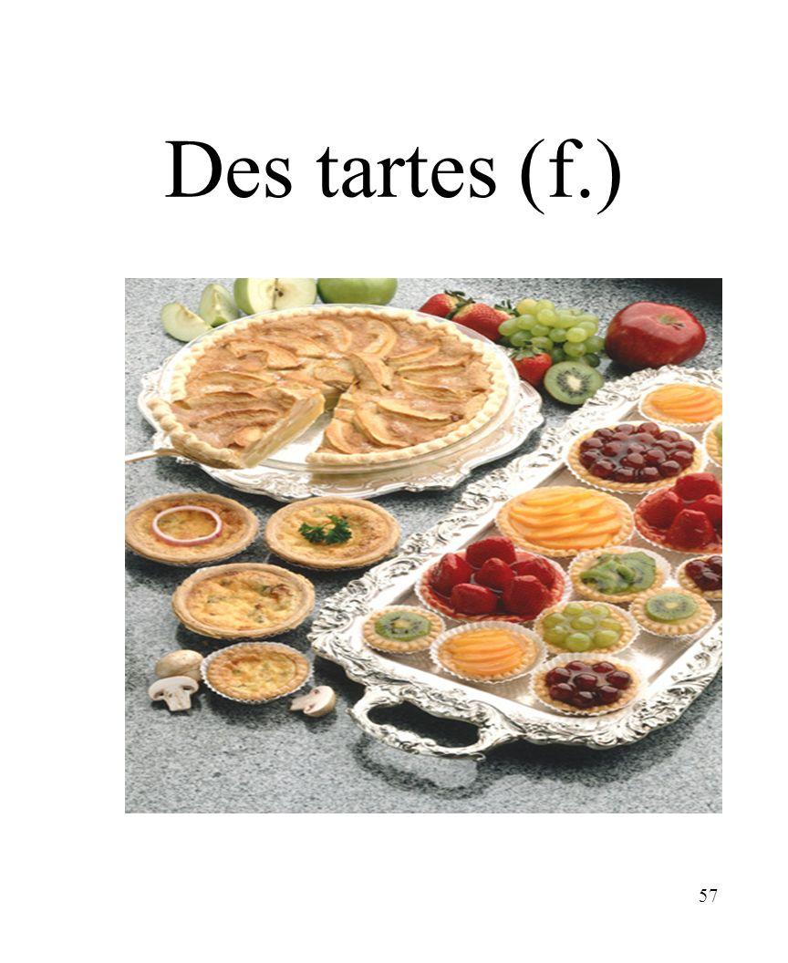 CHAPITRE 8 LES ALIMENTS 3/25/2017 Des tartes (f.) Madame Craven