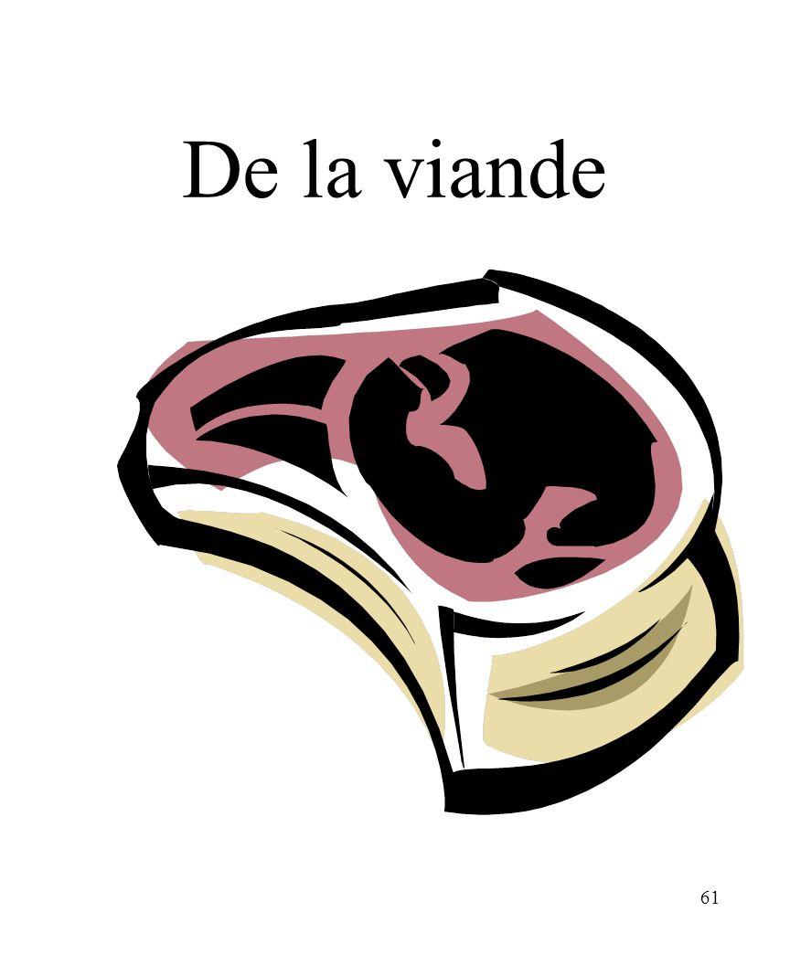 CHAPITRE 8 LES ALIMENTS 3/25/2017 De la viande Madame Craven