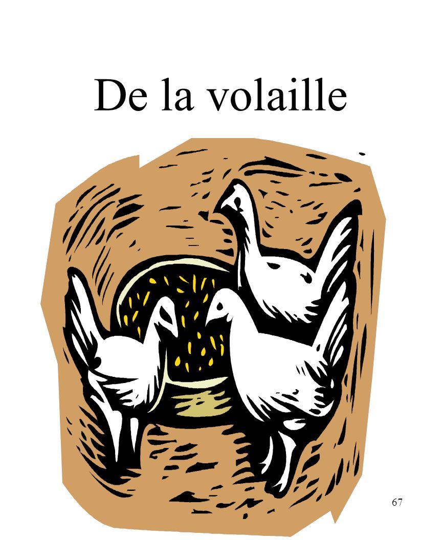 CHAPITRE 8 LES ALIMENTS 3/25/2017 De la volaille Madame Craven