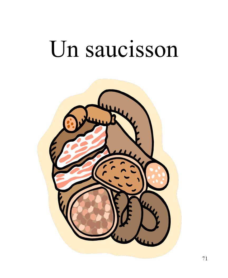 CHAPITRE 8 LES ALIMENTS 3/25/2017 Un saucisson Madame Craven