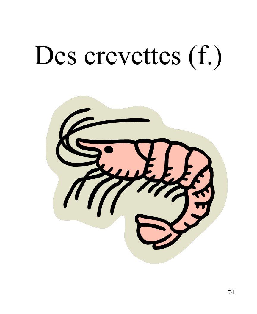 CHAPITRE 8 LES ALIMENTS 3/25/2017 Des crevettes (f.) Madame Craven