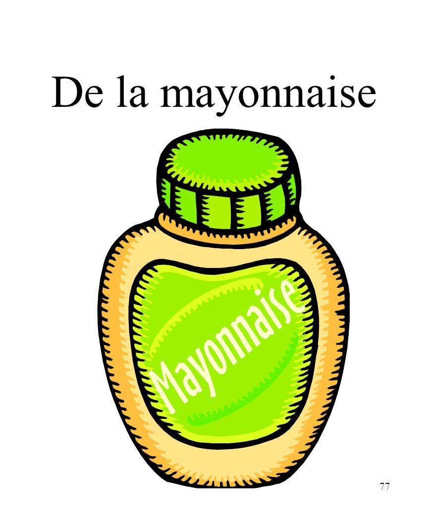 CHAPITRE 8 LES ALIMENTS 3/25/2017 De la mayonnaise Madame Craven