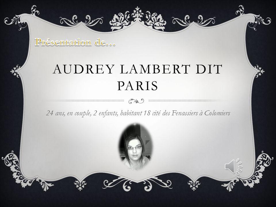 Audrey Lambert dit paris