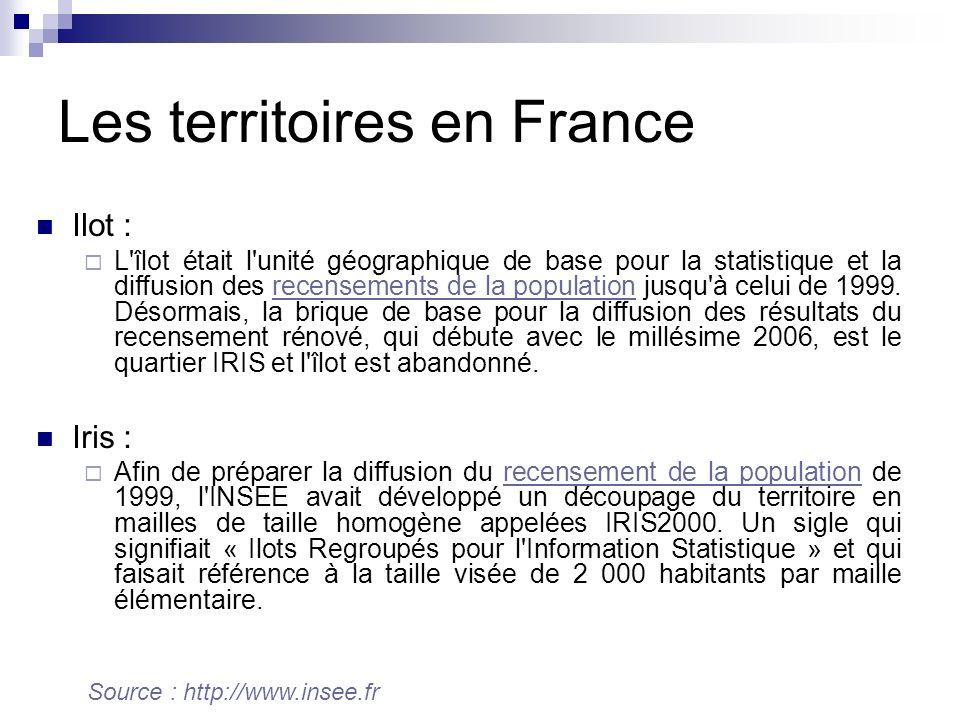 Les territoires en France