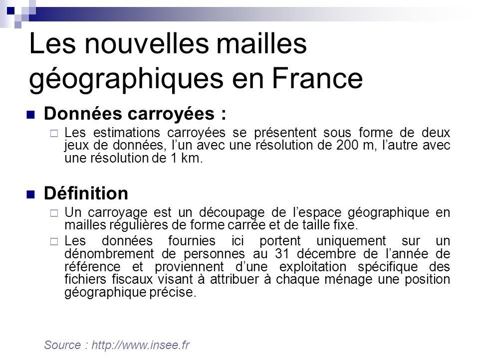 Les nouvelles mailles géographiques en France
