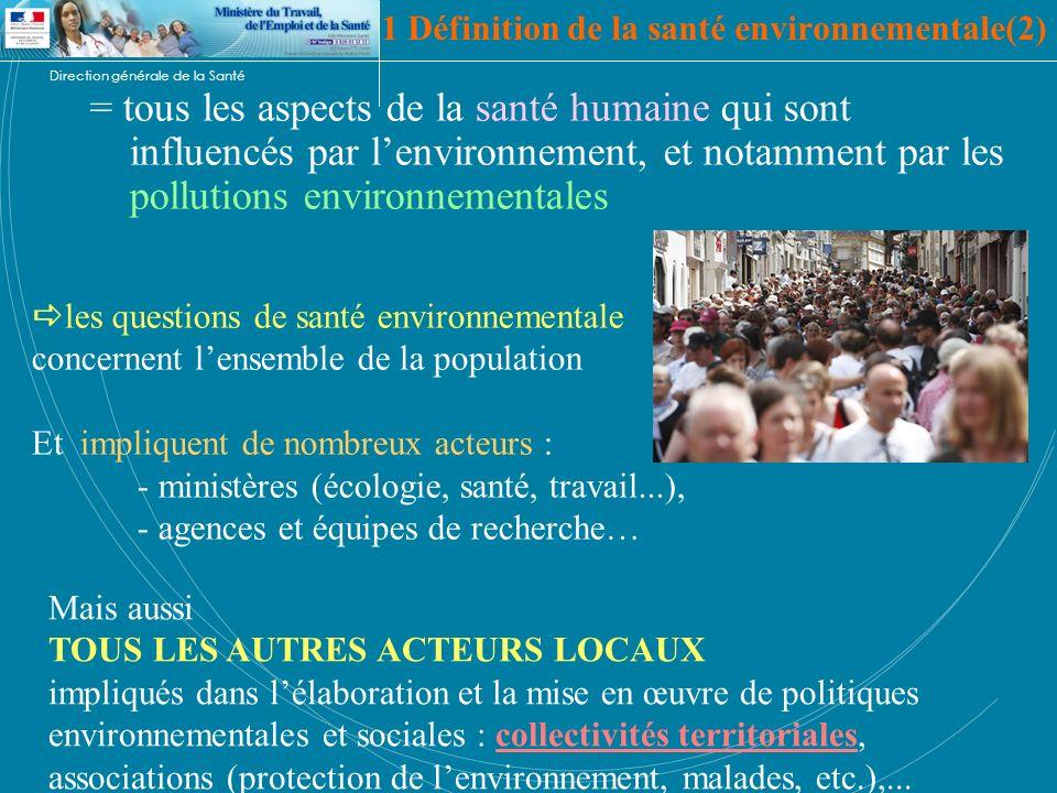 1 Définition de la santé environnementale(2)