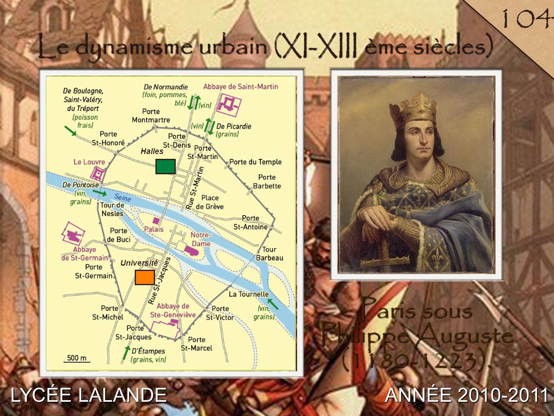Le dynamisme urbain (XI-XIII ème siècles)