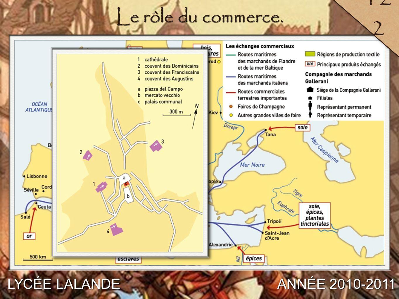 122 Le rôle du commerce. LYCÉE LALANDE ANNÉE 2010-2011 8
