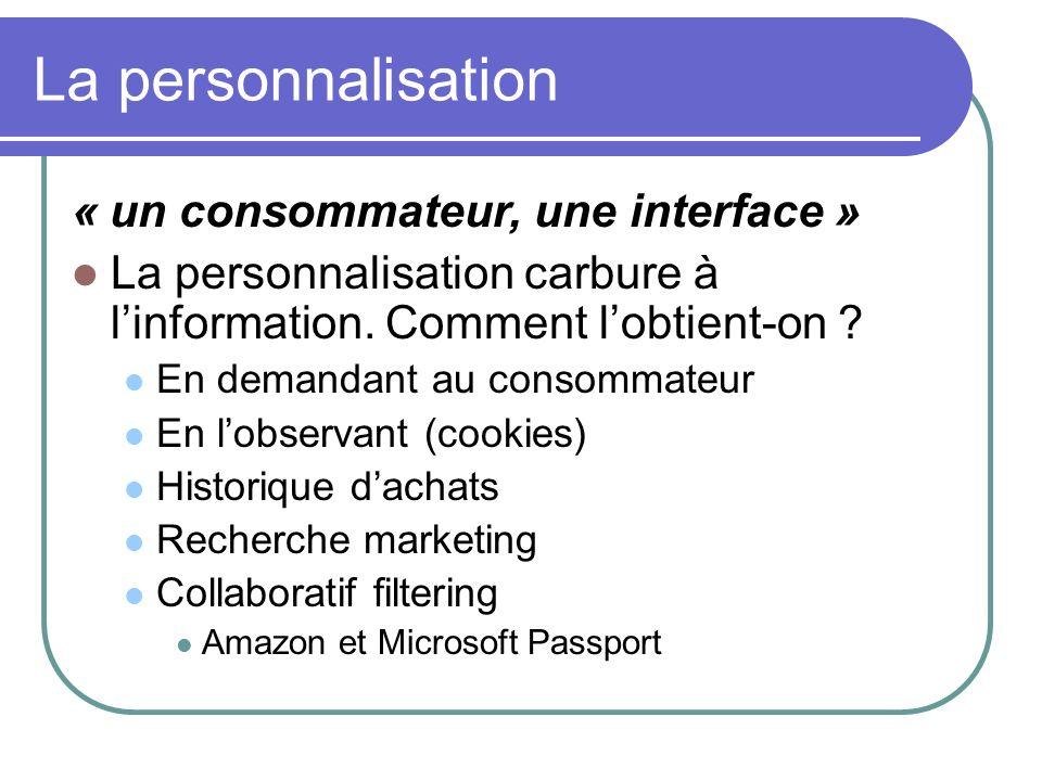 La personnalisation « un consommateur, une interface »