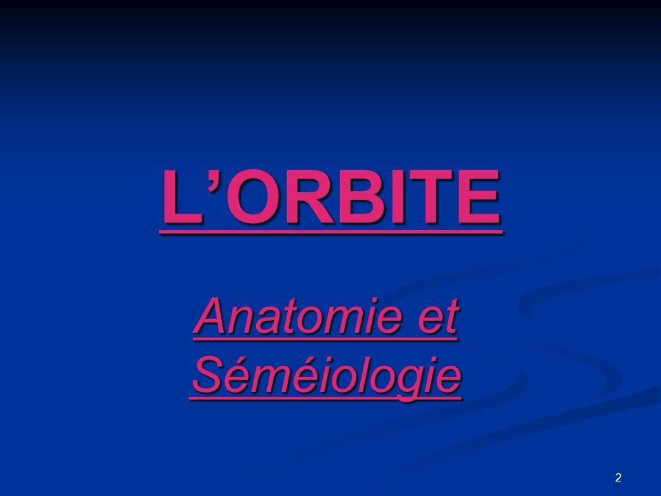 Anatomie et Séméiologie