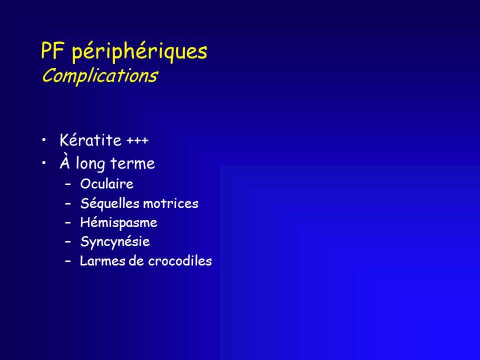 PF périphériques Complications