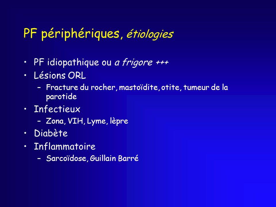 PF périphériques, étiologies