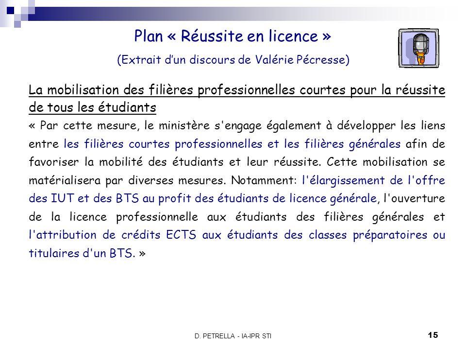 Plan « Réussite en licence »