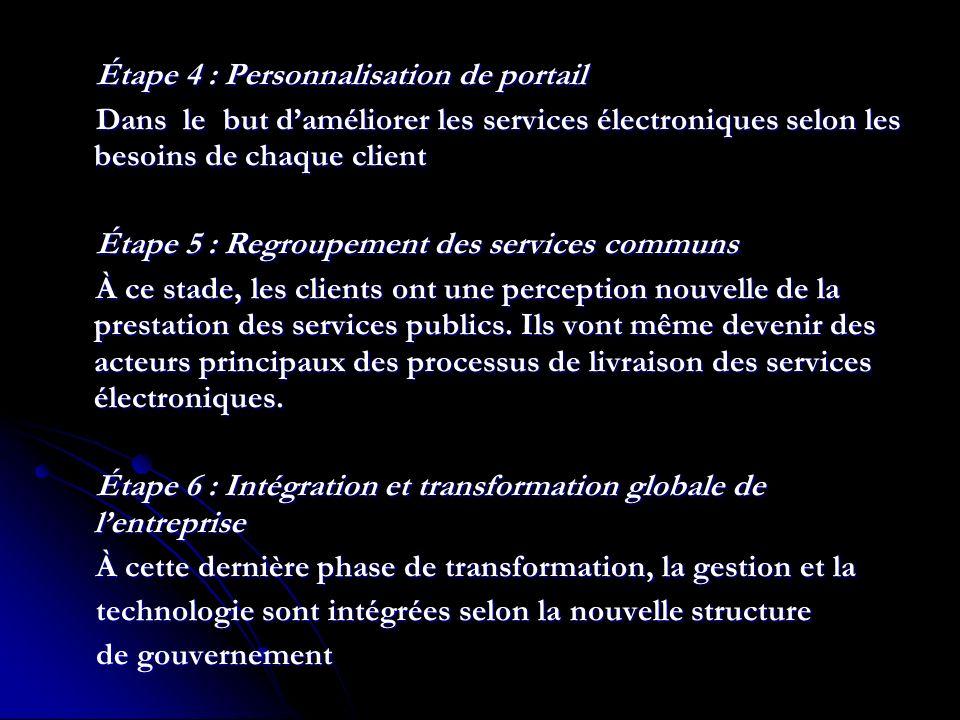 Étape 4 : Personnalisation de portail