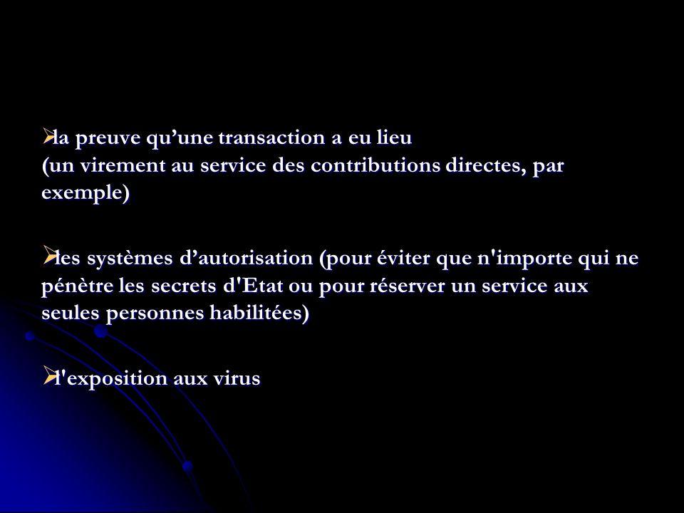 la preuve qu'une transaction a eu lieu (un virement au service des contributions directes, par exemple)