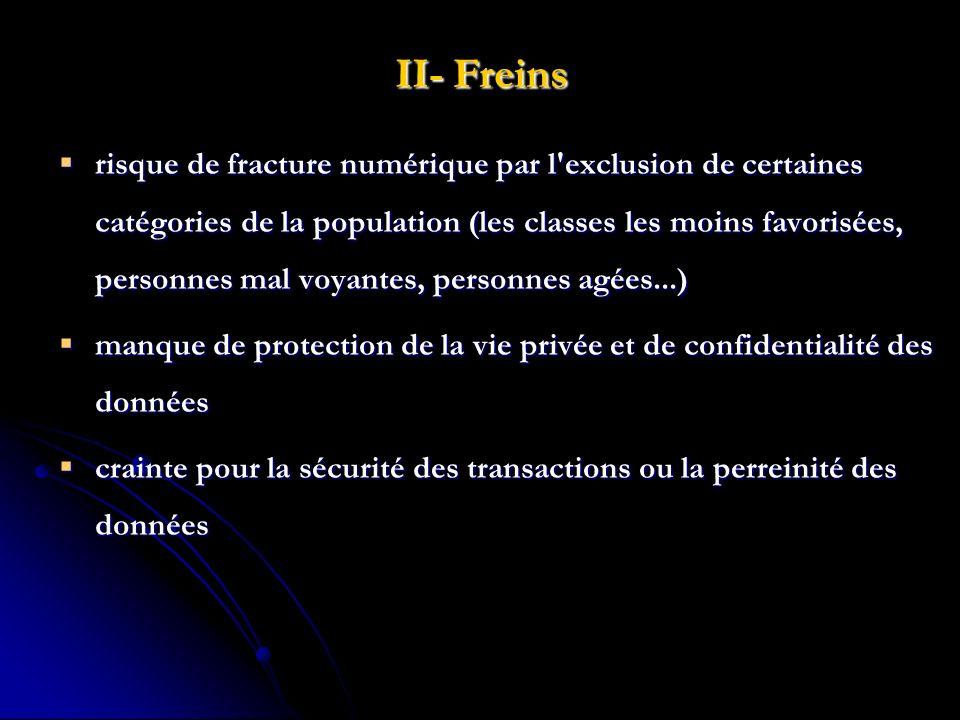 II- Freins