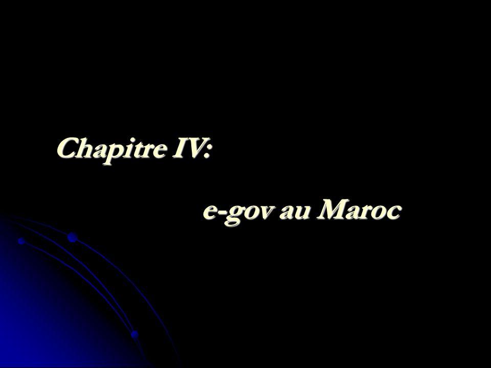 Chapitre IV: e-gov au Maroc