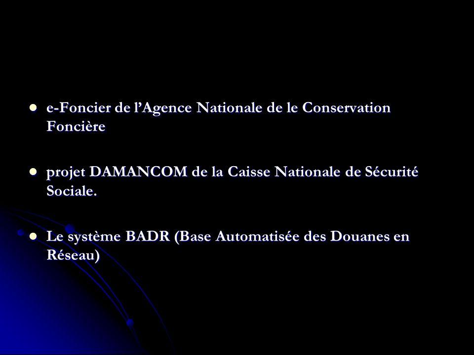 e-Foncier de l'Agence Nationale de le Conservation Foncière