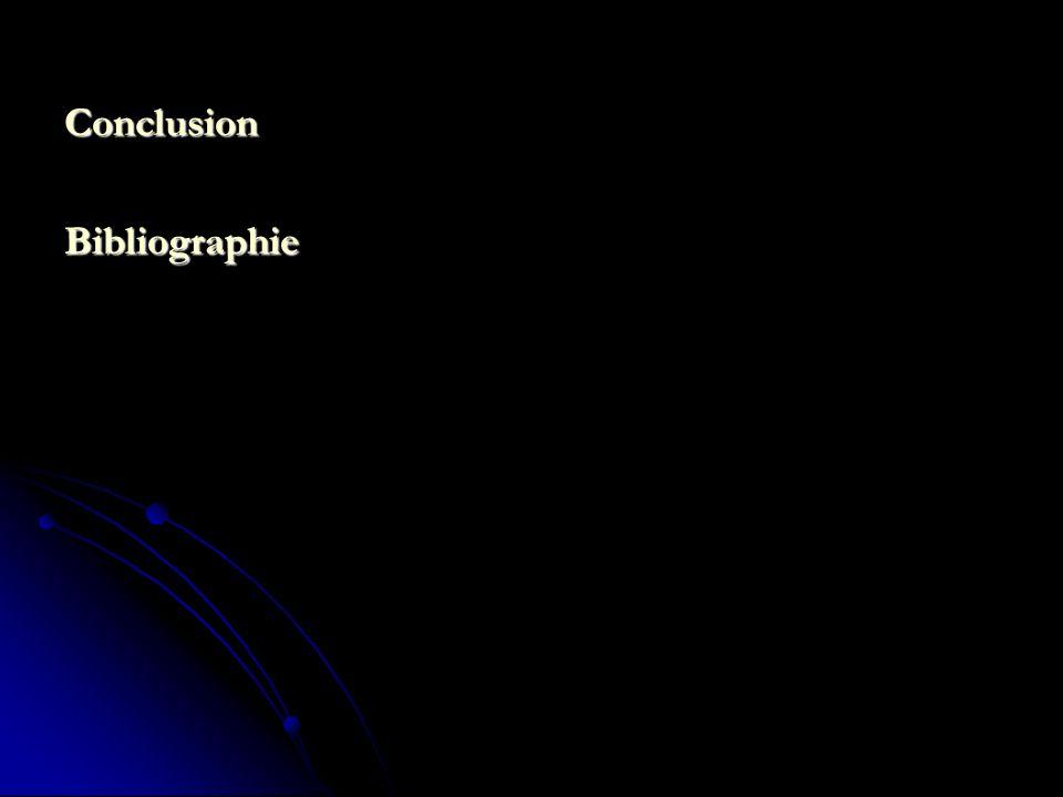 Conclusion Bibliographie