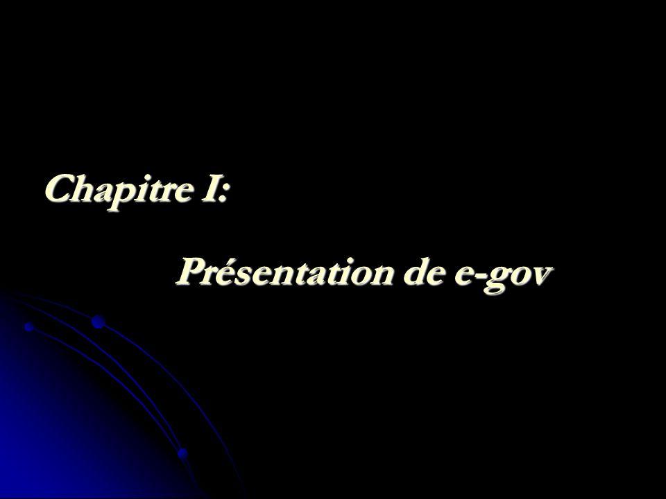 Chapitre I: Présentation de e-gov
