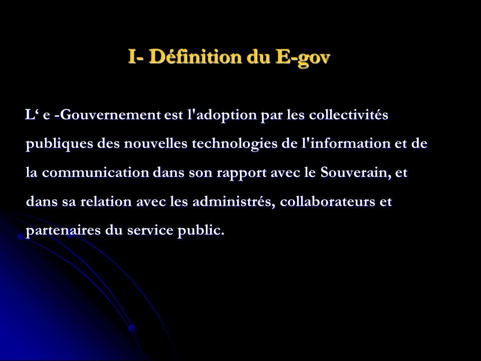 I- Définition du E-gov