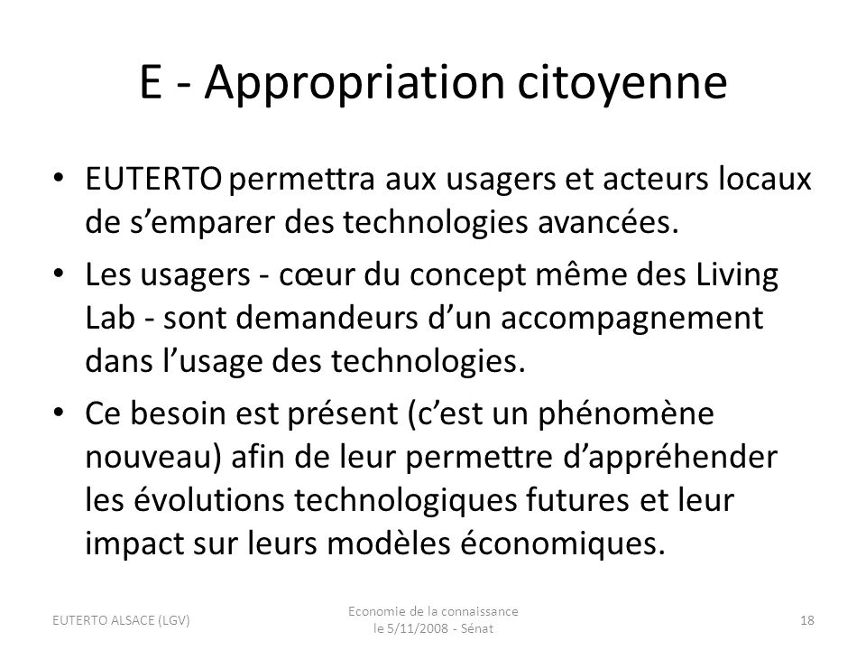 E - Appropriation citoyenne