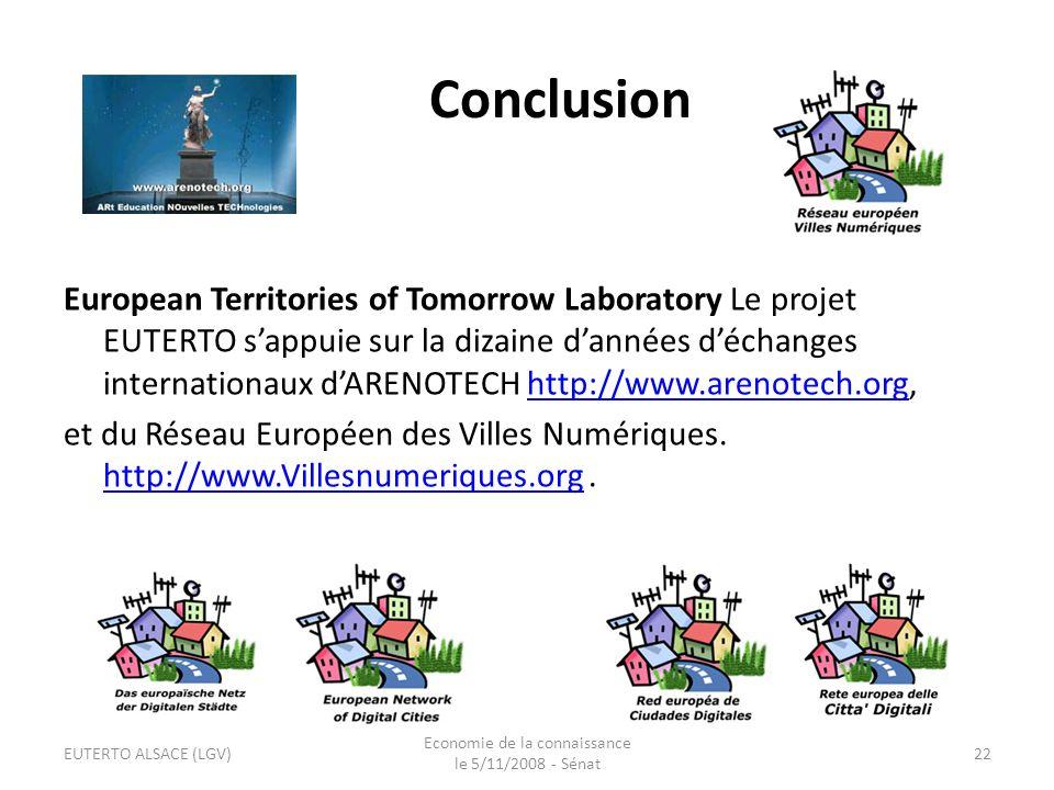 Economie de la connaissance le 5/11/2008 - Sénat