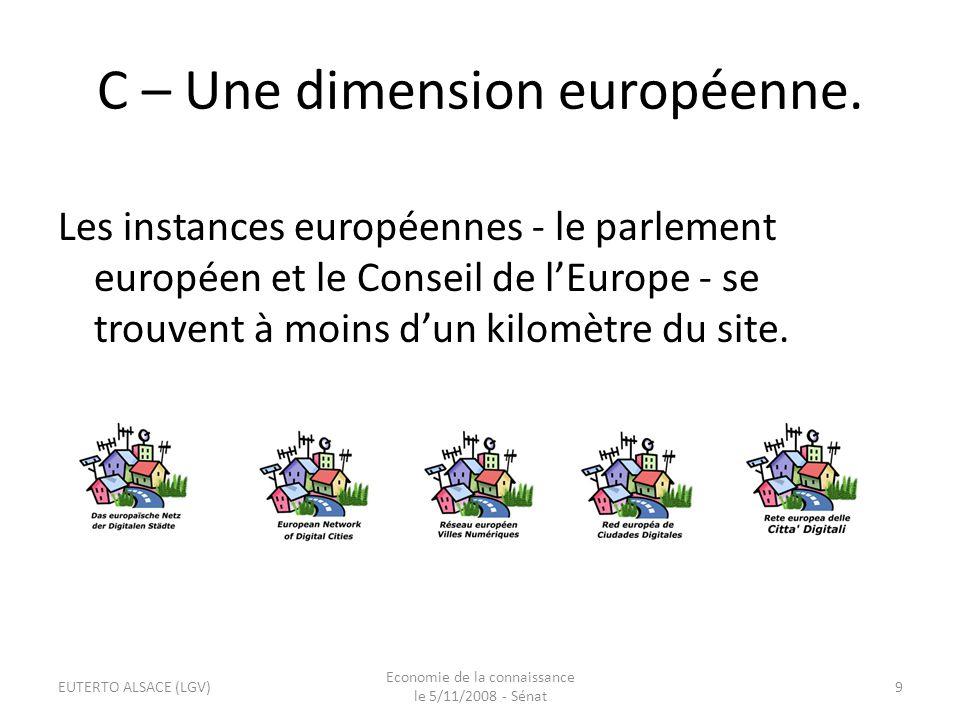 C – Une dimension européenne.
