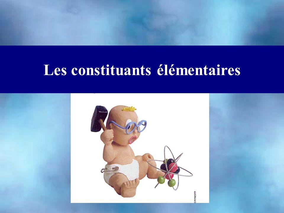 Les constituants élémentaires