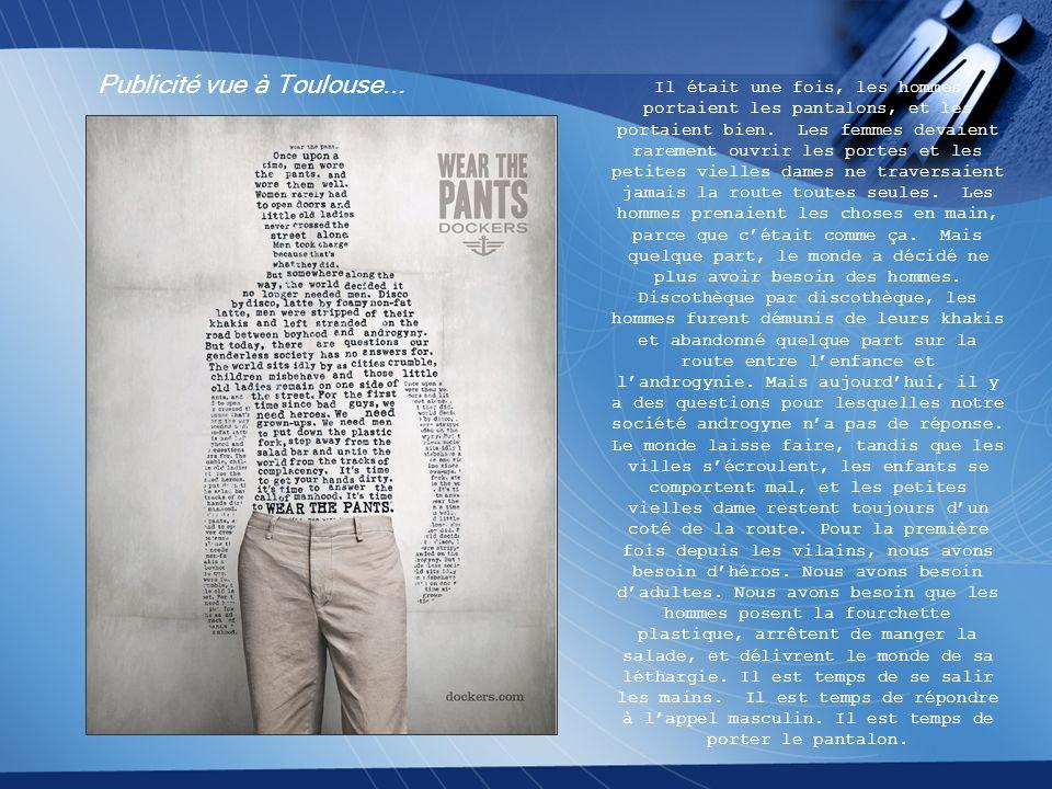 Publicité vue à Toulouse...