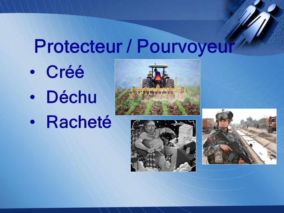 Protecteur / Pourvoyeur Créé Déchu Racheté