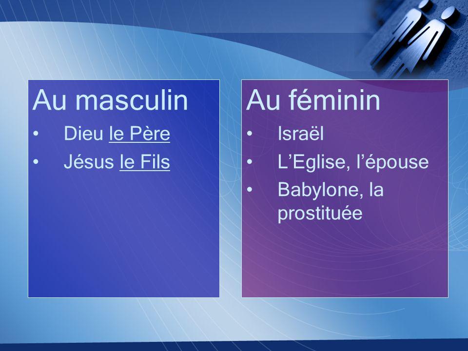 Au masculin Dieu le Père Jésus le Fils