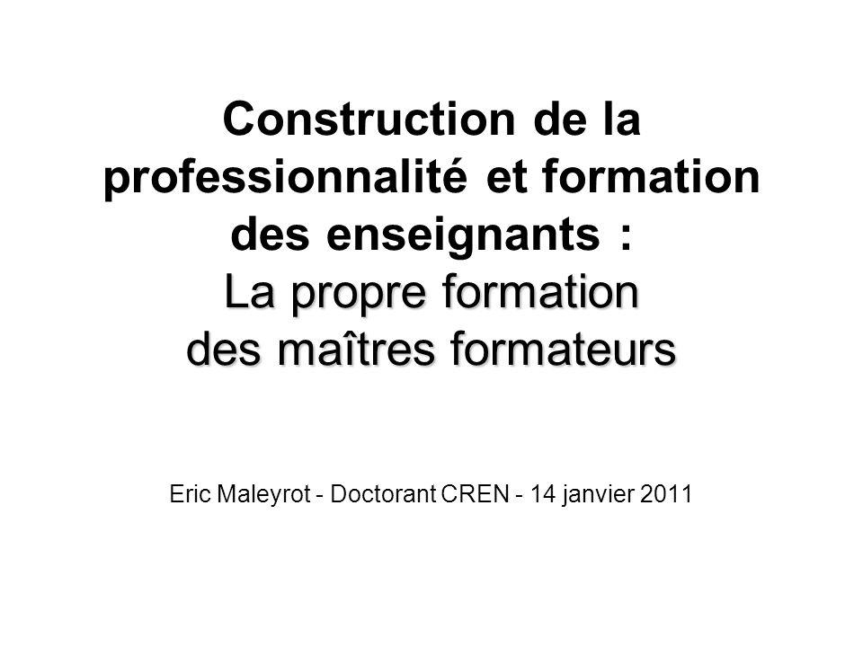 Eric Maleyrot - Doctorant CREN - 14 janvier 2011