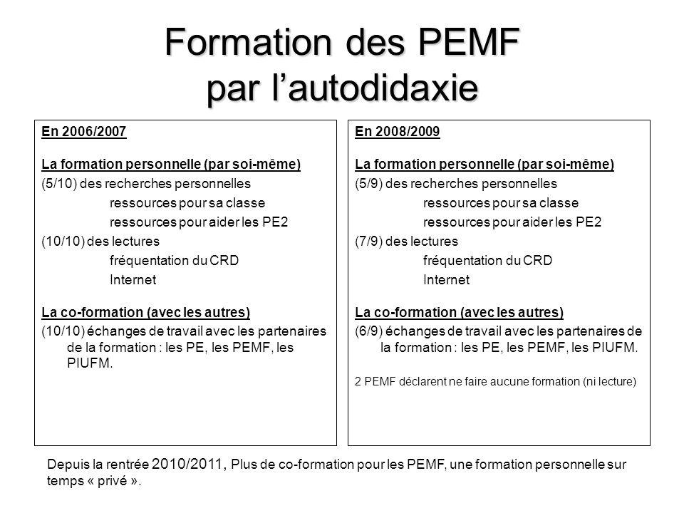 Formation des PEMF par l'autodidaxie