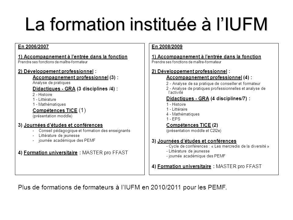 La formation instituée à l'IUFM