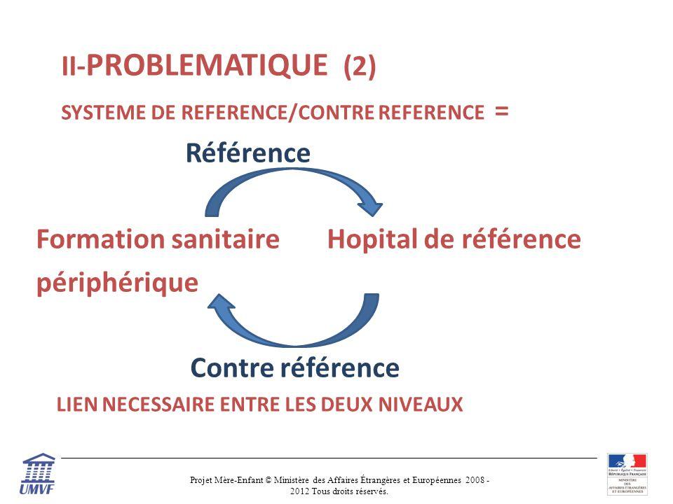 Formation sanitaire Hopital de référence périphérique Contre référence