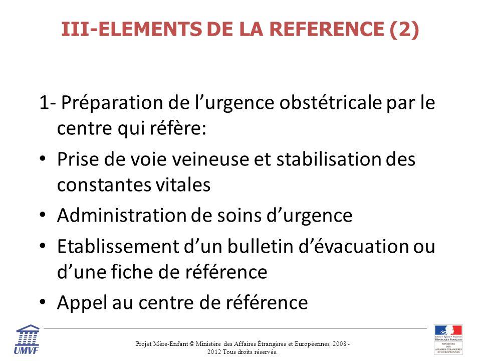 III-ELEMENTS DE LA REFERENCE (2)