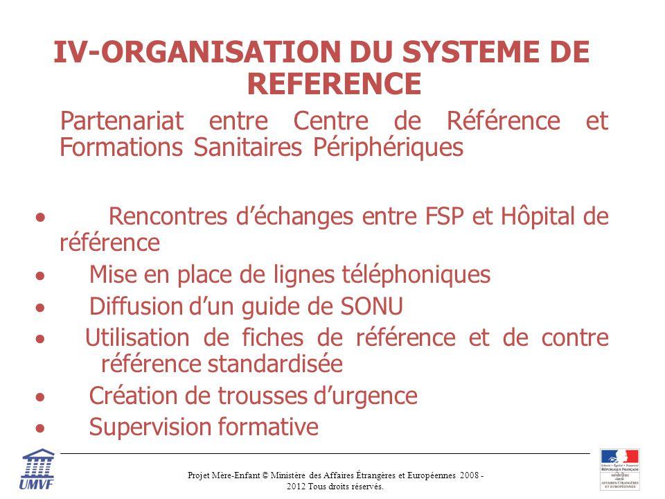 IV-ORGANISATION DU SYSTEME DE REFERENCE