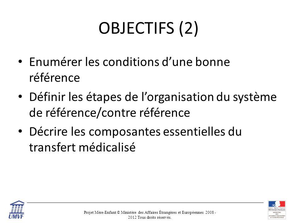 OBJECTIFS (2) Enumérer les conditions d'une bonne référence