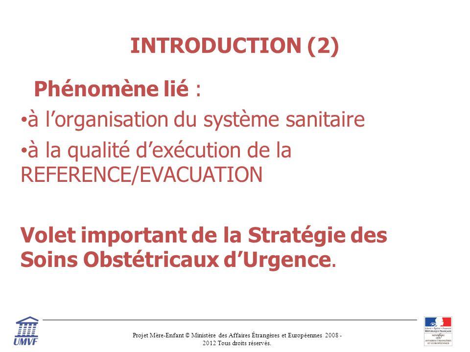 INTRODUCTION (2) Phénomène lié : à l'organisation du système sanitaire