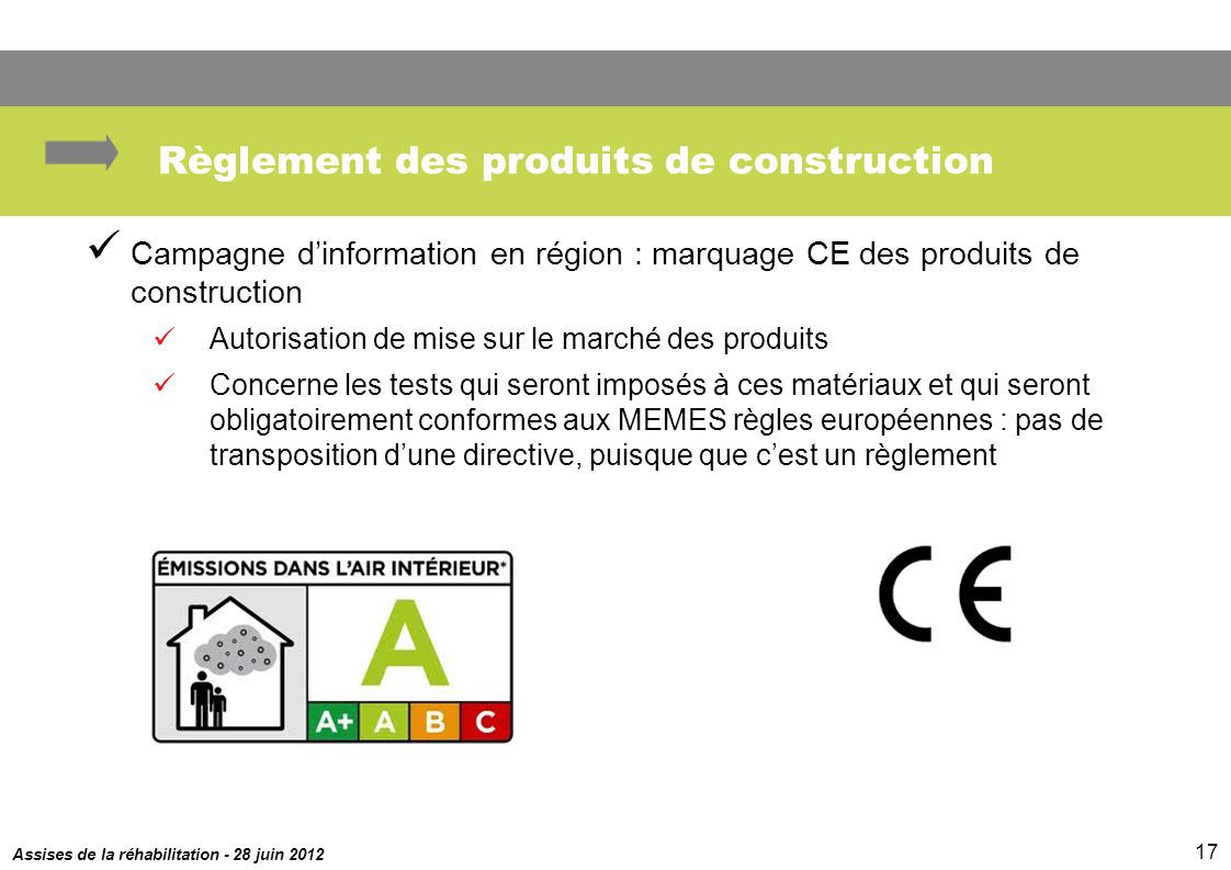 Actualit r glementaire ppt t l charger for Autorisation de construction