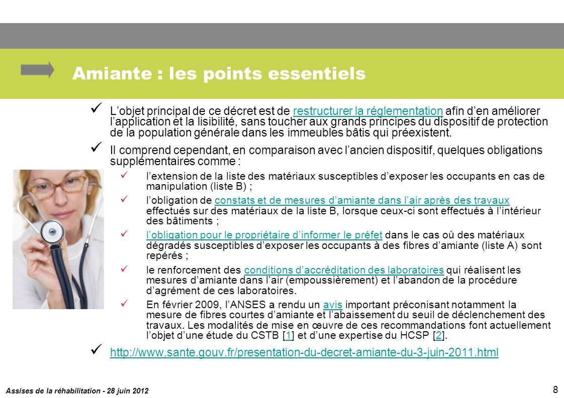 Amiante : les points essentiels