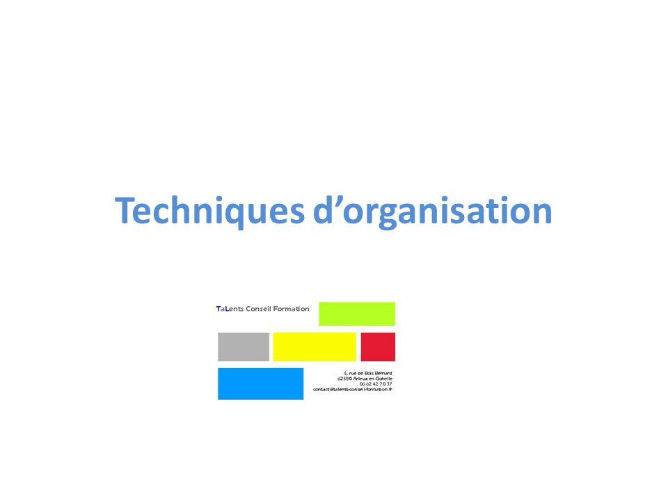 Techniques d'organisation