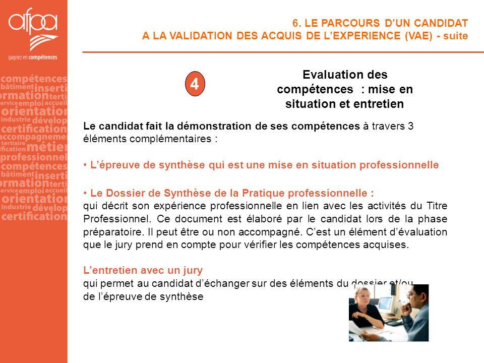 Evaluation des compétences : mise en situation et entretien