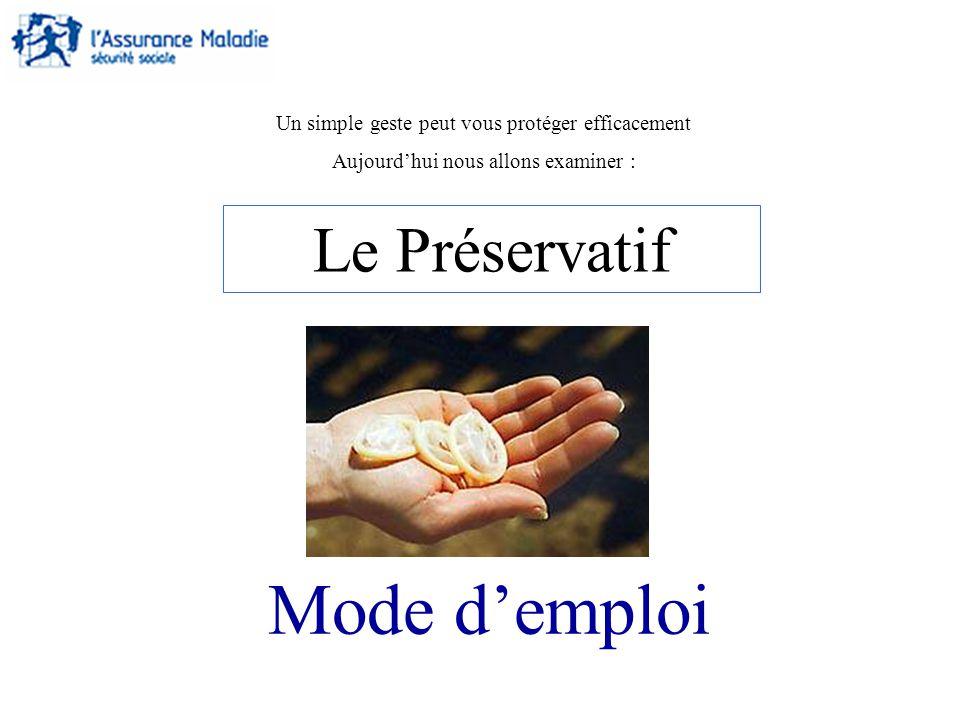 Mode d'emploi Le Préservatif