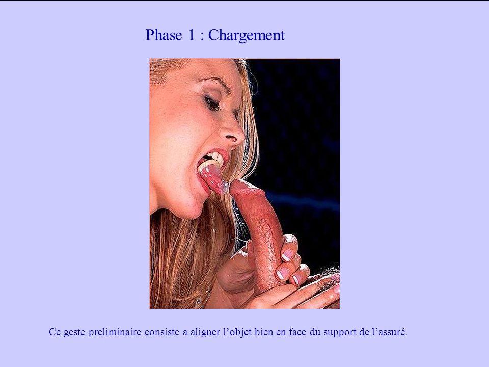Phase 1 : Chargement Ce geste preliminaire consiste a aligner l'objet bien en face du support de l'assuré.