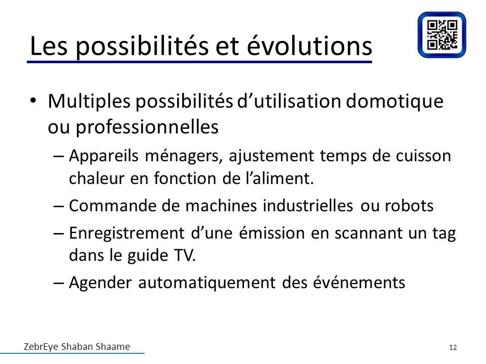 Les possibilités et évolutions