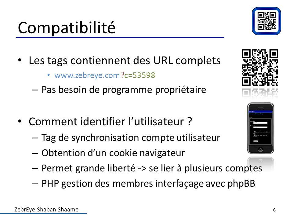 Compatibilité Les tags contiennent des URL complets
