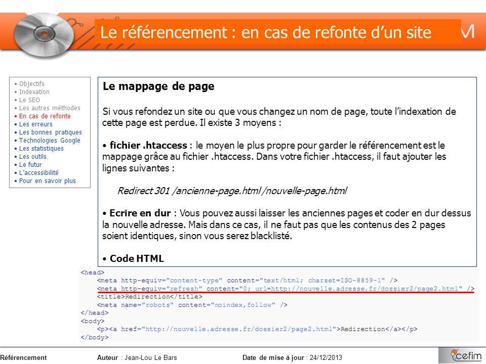 Le référencement : en cas de refonte d'un site